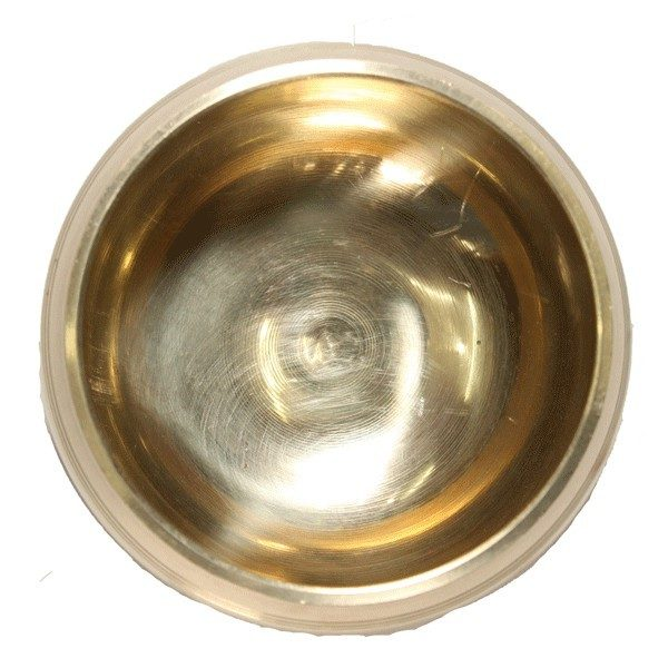 Gold Coloured Seven Metal Singing Bowl